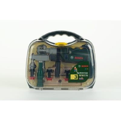Klein - 8416 - jeu d'imitation - mallette outils bosch transparente avec perceuse