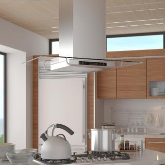 hotte aspirante de cuisine pour ilot ultra moderne achat. Black Bedroom Furniture Sets. Home Design Ideas