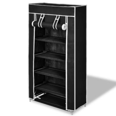 vidaXL Porte-chaussures étagères 58 x 28 106 cm Noir