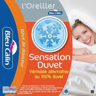 BLEU CALIN Oreiller Sensation Duvet 60x60cm