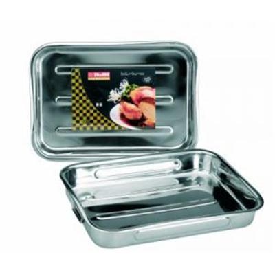 IBILI - Ustensiles et accessoires de cuisine - plat rôtir inox anses pliantes 31x23.5cm ( 6518-30-4 )