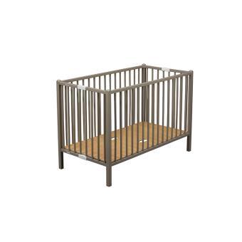 lit b b 120 x 60 pliable gris hauteur sommier r glable. Black Bedroom Furniture Sets. Home Design Ideas