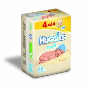 2395400 Huggies Lingettes PURE 3+1-4x64 Lingettes