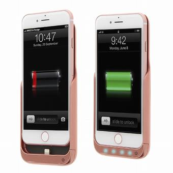 Coque rechargeable rose pour Iphone 7 6 6S
