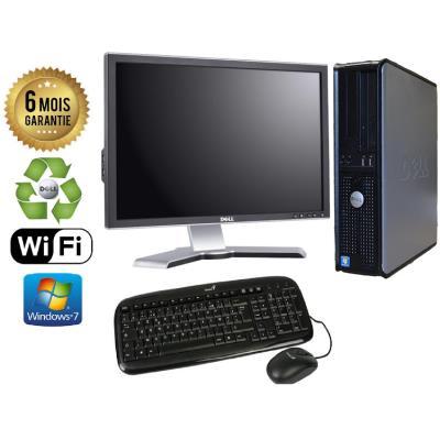 Unite Centrale Dell 780 SFF Core 2 Duo E7500 2,93Ghz Mémoire Vive RAM 2GO Disque Dur 500 GO Graveur DVD Windows 7 Wifi - Ecran 21(selon arrivage) - Processeur Core 2 Duo E7500 2,93Ghz RAM 2GO HDD 500 GO Clavier + Souris Fournis