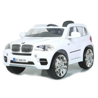 petite voiture lectrique enfant x5 bmw pour enfant 12v radio fm blanc avec t l commande. Black Bedroom Furniture Sets. Home Design Ideas