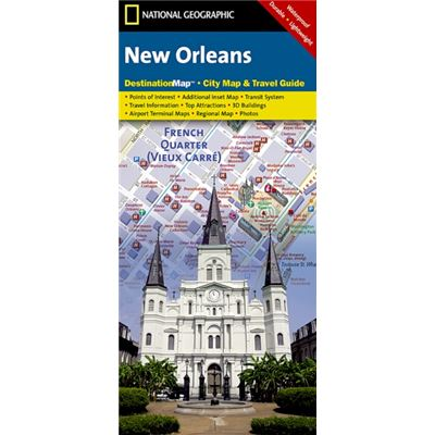 New Orleans : Destination City Maps (Map)