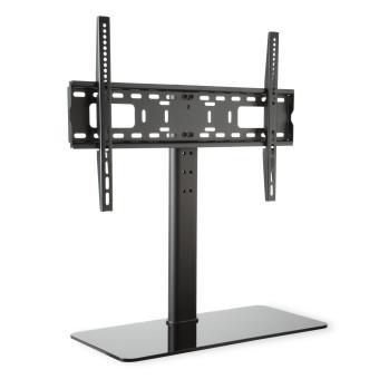 46 sur auna support tv taille l hauteur 76 cm r glable en hauteur 23 55 pouces pied en verre. Black Bedroom Furniture Sets. Home Design Ideas