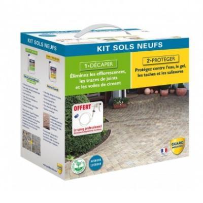 Nettoyant et décapant matériaux poreux- kit sols neufs