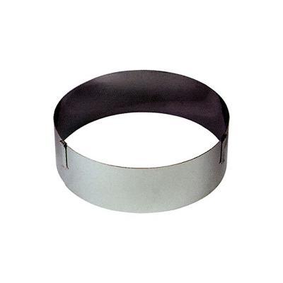Cercle à pâtisserie réglable - Inox - 18 à 30 cm