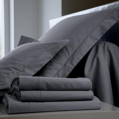 Housse de couette Coton BLANC DES VOSGES 240 x 220 cm Fusain