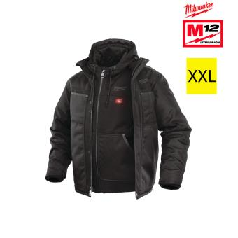 Blouson chauffant noir Milwaukee taille XL M12 HJ 3IN1 0
