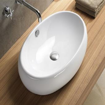 grande vasque poser ovale 60x40 cm cramique swann installations salles de bain achat prix fnac - Grande Vasque A Poser