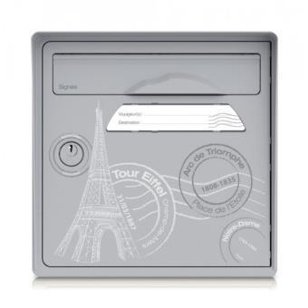 Boite Aux Lettres Signee 2 Portes Grise Porte Paris Est Belle