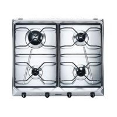 Smeg SV564-3 table de cuisson au gaz - 60 cm - inox - inox
