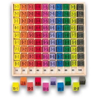 Table de multiplication couleur en bois jusqu 39 10 x 10 sac de rangement autres jouets en - Tables de multiplication jusqu a 100 ...