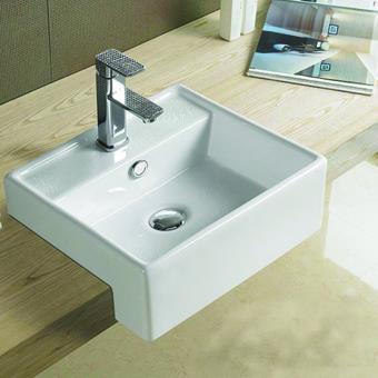 Vasque Semi Encastrable Carree 41x41 Cm Ceramique Pure