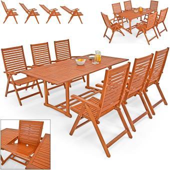 Salon de jardin unikko en eucalyptus tables chaises en bois mobilier de jardin achat - Salon de jardin en eucalyptus ...