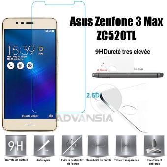 Zenfone 3 Max ZC520TL Vitre Protection Decran En Verre Trempe Incassable Tempered Glass Pour Asus