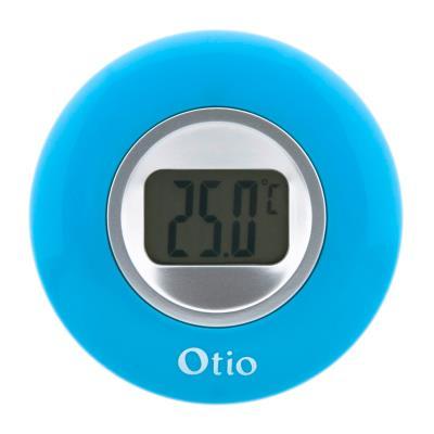 Otio thermomètre d'intérieur avec écran LCD 77 mm bleu