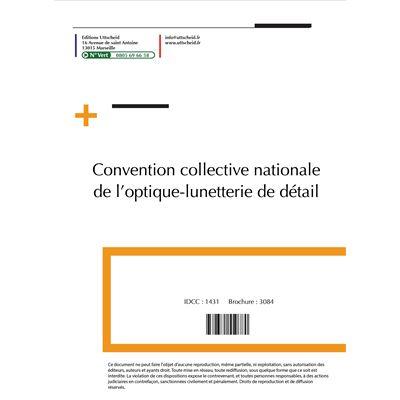 Convention collective nationale Optique Septembre 2018 + Grille de Salaire