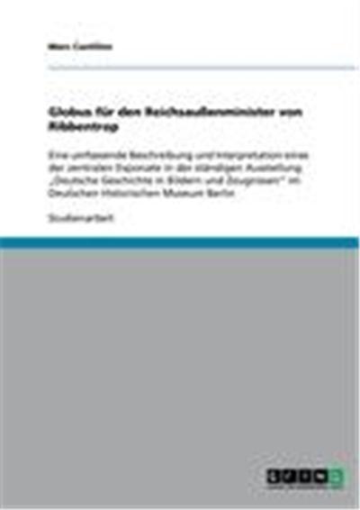 Globus für den Reichsaußenminister von Ribbentrop