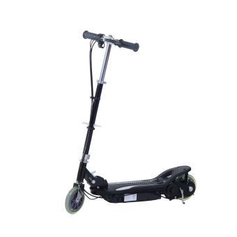 scooter lectrique deux roues 14 ans plus avec frein main cale pied puissance 120w noir. Black Bedroom Furniture Sets. Home Design Ideas