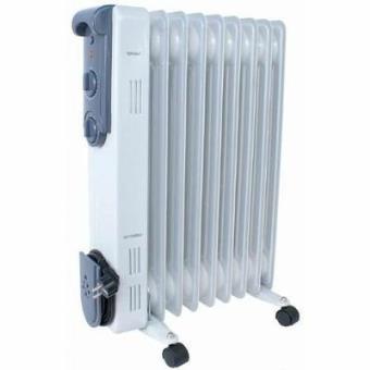 radiateur electrique puissant thermostat bain huile 2500w sur roulettes achat prix fnac