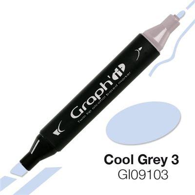 Marqueur à l'alcool graph'it 9103 cool grey 3 - graph it