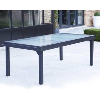 Wilsa Table de jardin 200/320 MODULO 12 PLACES GRISE - Mobilier de ...