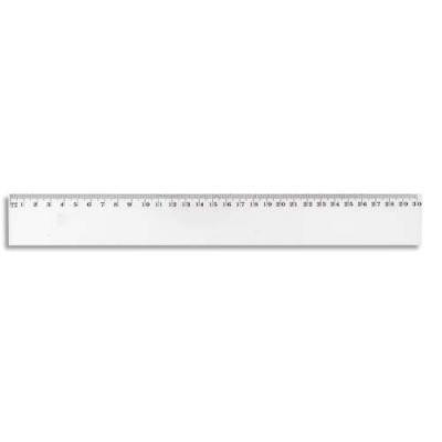 Jpc créations 950345 règle plate 30 cm transparent
