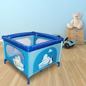 lit de voyage parc pliant pour b b bleu avec motifs igloo. Black Bedroom Furniture Sets. Home Design Ideas