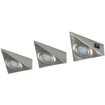 Lot de 3 spots cuisine ligura 12v avec interrupteur ranex xq0808 achat prix fnac - Spot sous meuble cuisine ...