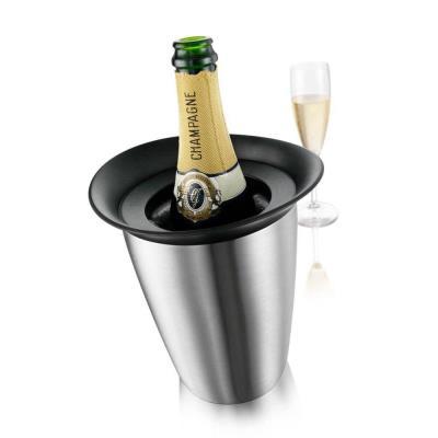 Seau refroidisseur champagne et vin, inox brossé, Elegant Cooler