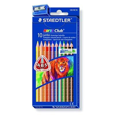 Staedtler 10 Crayons De Couleur + Taille-Crayon