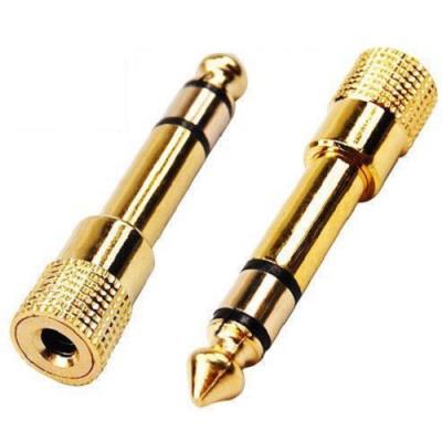 TechExpert - Adaptateur jack 6,35mm vers jack 3,5mm stéréo haute qualité