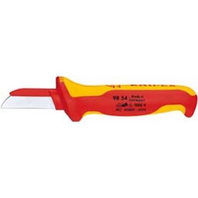 poignées à gaine en plastique multi-composant, Matériau de la lame : Acier à outils spécial, Lame fixe à lame droite, Dos de lame à gaine en plastique