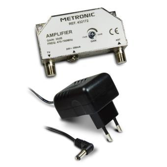 kit amplificateur d 39 antenne tv metronic 432172 compact. Black Bedroom Furniture Sets. Home Design Ideas