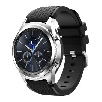 bracelet soft sports silicone pour samsung gear s3 frontier s3 classic black montre. Black Bedroom Furniture Sets. Home Design Ideas