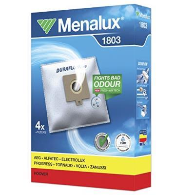 Menalux 1803 4 sacs aspirateur compatible pour hoover progress freespace + 1 filtre moteur + 1 micro filtre