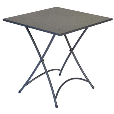 Table pliante en fer coloris gris 70 x 70 cm - A USAGE PROFESSIONNEL - PEGANE -