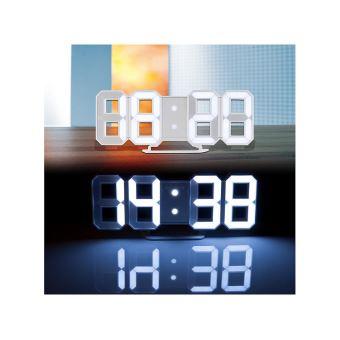 Horloge LED digitale design 3D avec fonction réveil