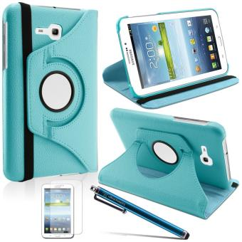 great prices wholesale outlet official photos HOUSSE 360 COQUE ROTATIVE ETUI TABLETTE SAMSUNG Galaxy Tab 3 Lite 7.0 T110  Bleu lagon (+FILM + STYLET)