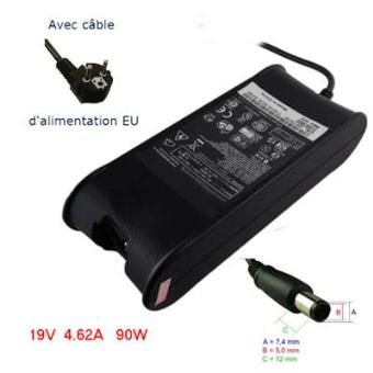 adaptateur secteur chargeur pour pc portable dell latitude 19v 90w 7 4 x 5 0 mm. Black Bedroom Furniture Sets. Home Design Ideas