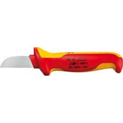poignées à gaine en plastique multi-composant, Matériau de la lame : Acier à outils spécial, Lame fixe à lame droite, Dos de lame sans gaine en plastique