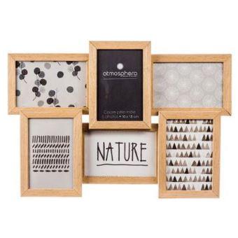 cadre photo p le m le mural capacit 6 photos bois top prix fnac. Black Bedroom Furniture Sets. Home Design Ideas