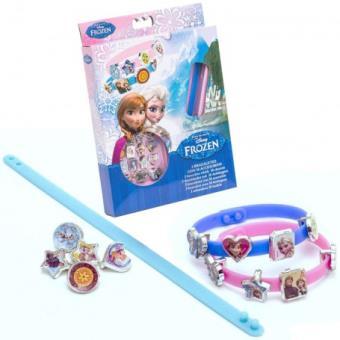 procédés de teinture minutieux se connecter meilleur authentique Disney - La Reine des Neiges - 3 Bracelets avec 18 Breloques