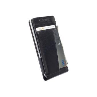 Krusell Kalmar WalletCase MfX - Flip cover voor mobiele telefoon - leer - zwart - voor Sony XPERIA Z3 Compact