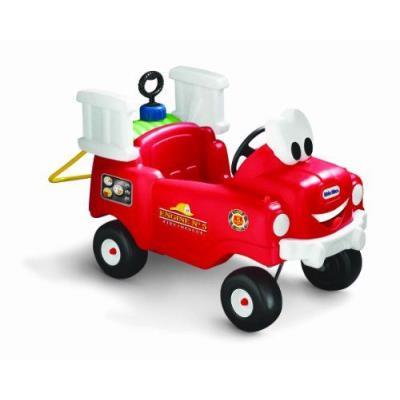Little Tikes - 616129 - Véhicule pour Enfants - Cozy - Camion Pompier avec sa Lance Incendie