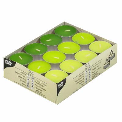Assortiment de 24 bougies chauffe-plats Vert